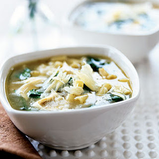 Chicken-Noodle Soup with Spinach