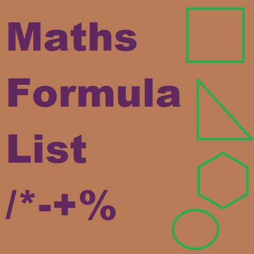 Maths Formula List LOGO-APP點子