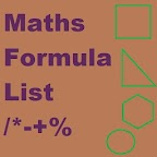 Maths Formula List