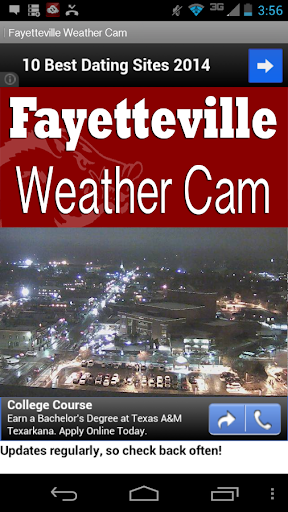 Fayetteville Live Weather Cam