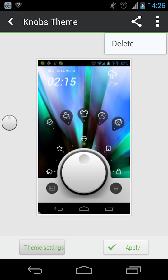Knobs Toucher Theme GO - screenshot