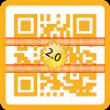 QR Barcode Premium Gold icon