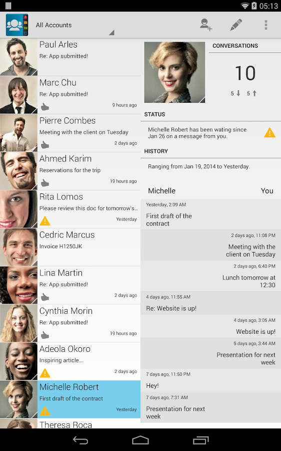 Contacts Ultra- screenshot