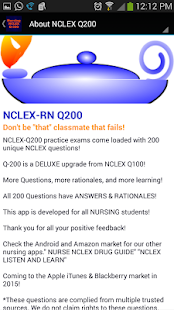 NCLEX Q-200 Nursing Q bank- screenshot thumbnail