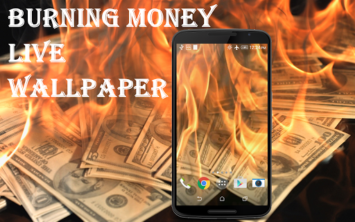 Burning Money Live Wallpaper