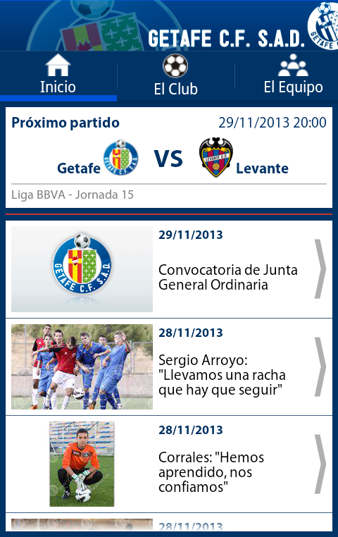 Getafe C.F. - screenshot