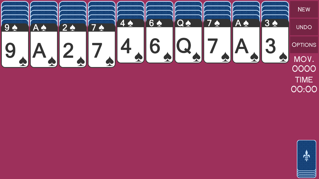 iSpider - spider solitaire - screenshot