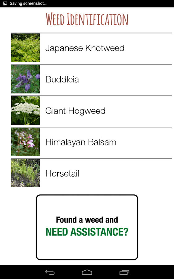 Weed Identifier (UK)- screenshot