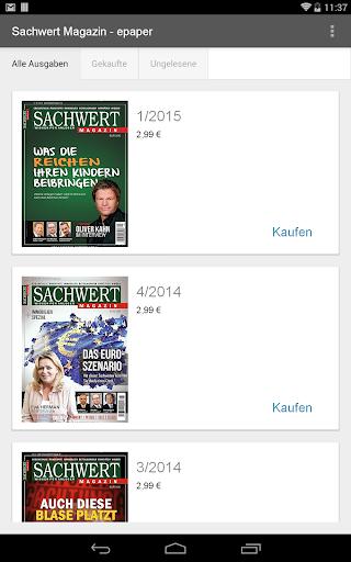 Sachwert Magazin - epaper