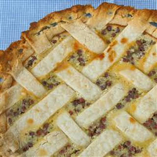 Sour Cream Gooseberry Pie.