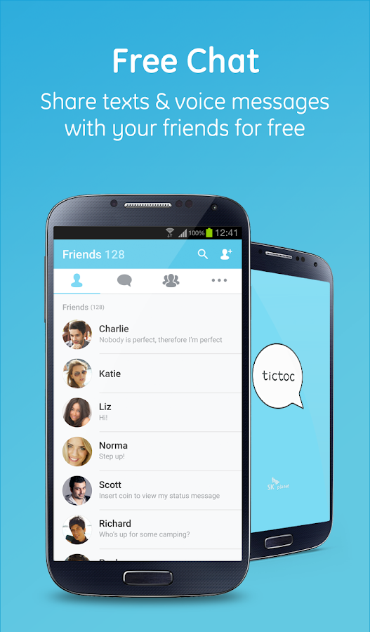 Tictoc - Free SMS & Text- screenshot