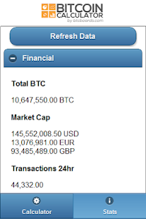 Bitcoin Calculator - screenshot thumbnail