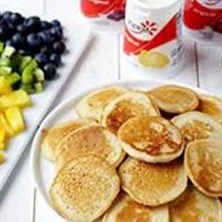 DIY Mini Rainbow Pancakes Brunch.