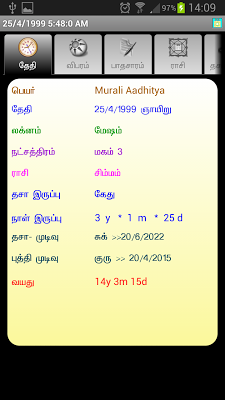 ICS Tamil Vakkiam Astrology - screenshot