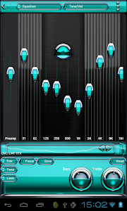 Poweramp skin Turquoise Glas v2.03