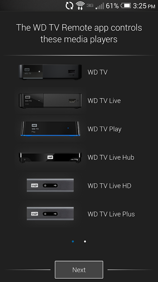 WD TV Remote- screenshot