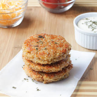 Sun dried Tomato and Mozzarella Quinoa Burgers.