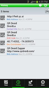QR Droid Private™- screenshot thumbnail