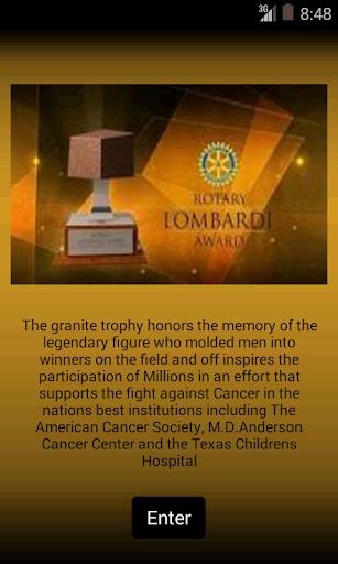 Rotary Lombardi Award 2013