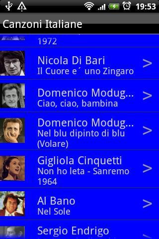 Canzoni Italiane - screenshot