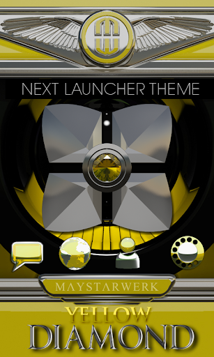 Next Launcher theme Yellow Dia