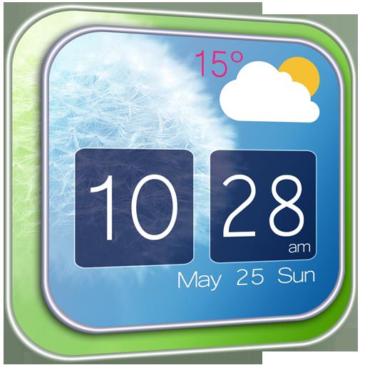 天气のタンポポ時計天気ウィジェット LOGO-記事Game