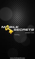 Screenshot of Mobile Secrets