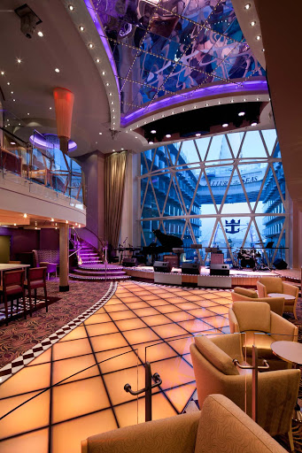 Allure-of-the-Seas-Dazzles-lounge - Dazzles aboard Allure of the Seas is a colorful lounge and dance club that spans three decks and offers great views of the Boardwalk.