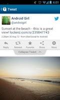 Screenshot of UberSocial for Twitter