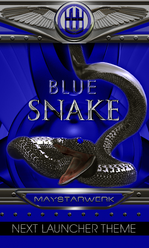 blue snake Next Launcher Theme