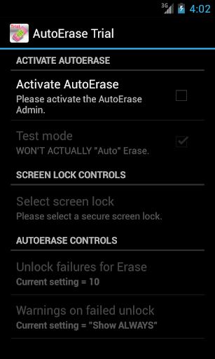 AutoErase Trial