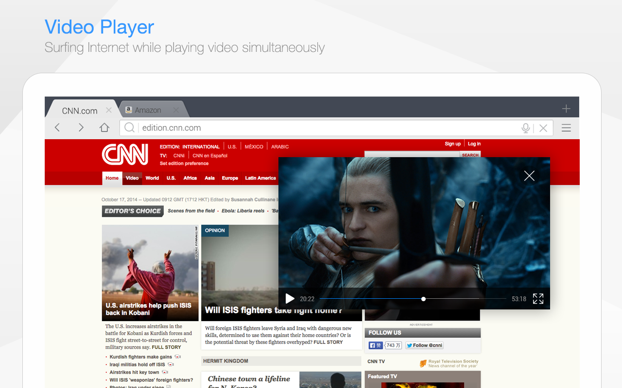 DU Browser for Tablet- screenshot