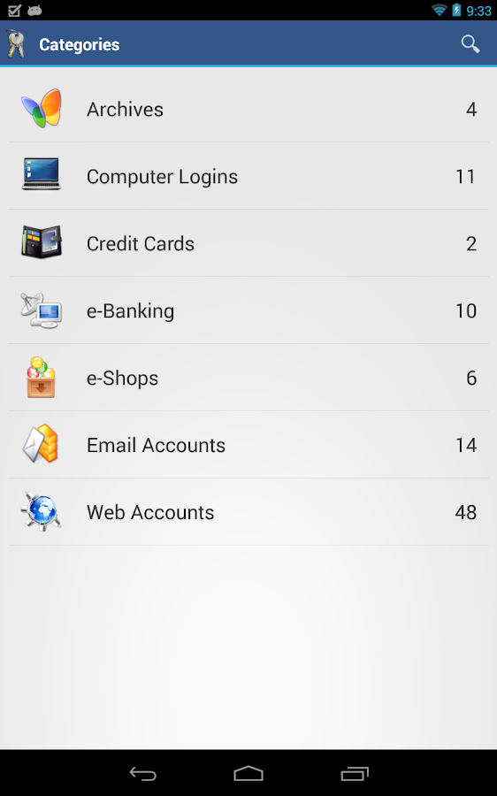 aWallet Password Manager - screenshot