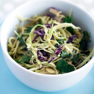 Karina's Vegan Coleslaw with Peanut Dressing.