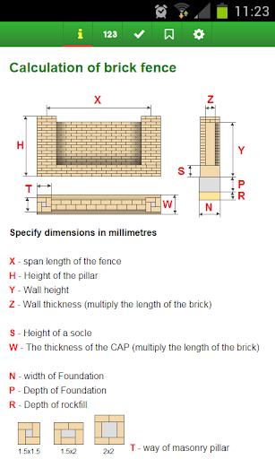 Calculation of brick fence