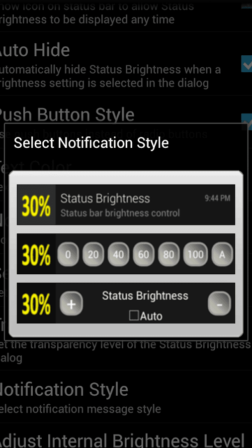 Status Brightness Free- screenshot