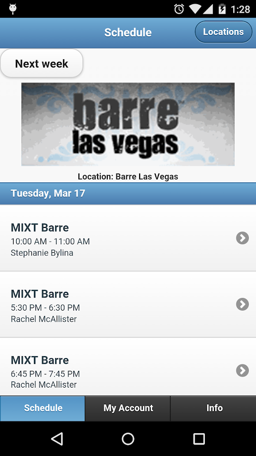 Barre Las Vegas- screenshot