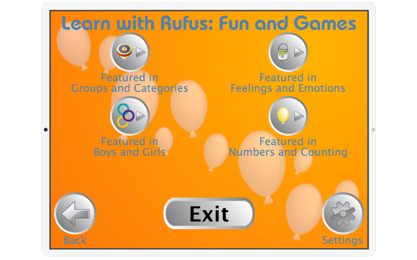 Learn with Rufus: Fun & Games- screenshot