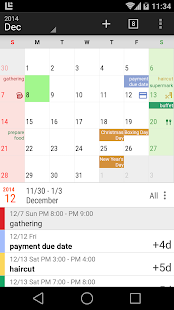 New Calendar Screenshot