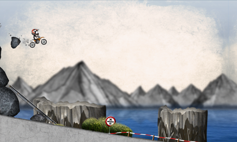 Stickman Downhill Motocross – Screenshot