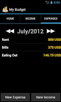 Screenshot of My Budget Free