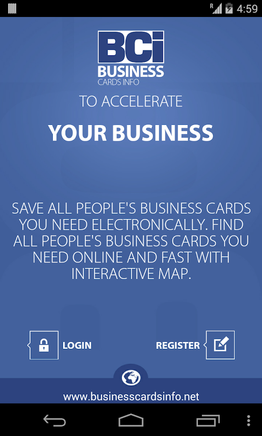 Business Cards Info (BCi) - screenshot