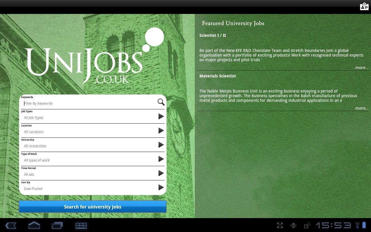 UniJobs UK - screenshot