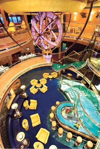 Holland-America-Noordam-Atrium - Holland America Line's Noordam displays a sophisticated chandelier in its Atrium hall.