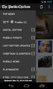 Pueblo Chieftain mobile - screenshot thumbnail