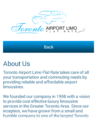 Toronto Airport Limo Service- screenshot