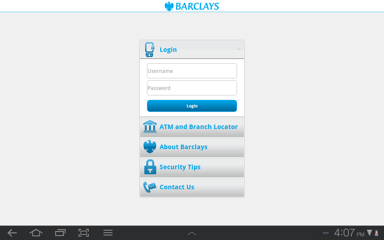Barclays Botswana - screenshot