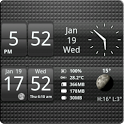 Sense Analog Small Black 4x1 icon