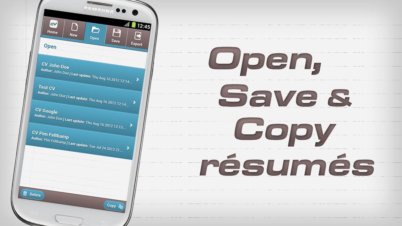 createcv rsum creator screenshot