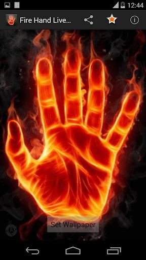 Fire Hand Live Wallpaper